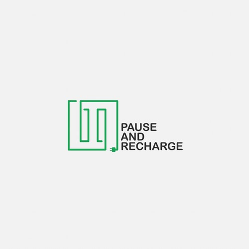 Plug logo with the title 'Logo for Pause And Recharge'