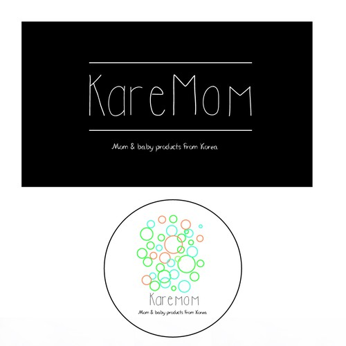 Shampoo logo with the title 'KareMom'