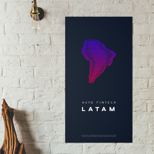 Fintech logo with the title 'Modern and unique logo for Auto fintech Latam'