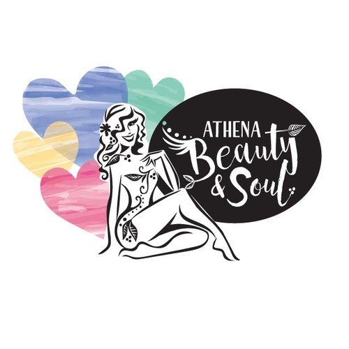 Pretty design with the title 'athena beauty & soul'