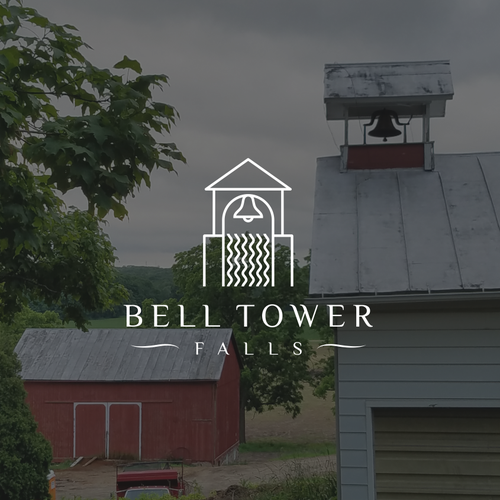 Bell design with the title 'bell tower falls'