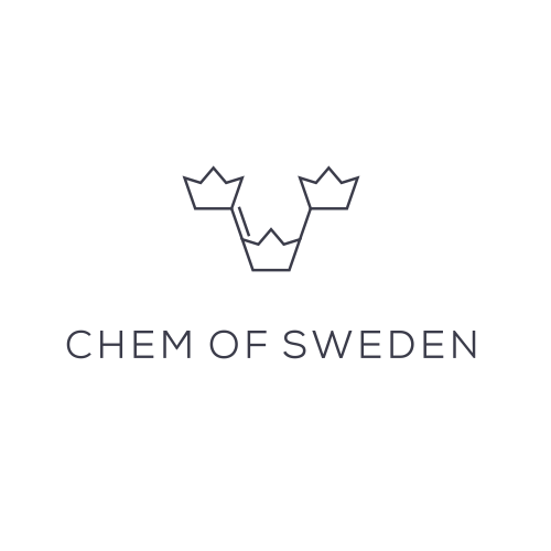Chemistry logo with the title 'Logo concept for chemical production company'