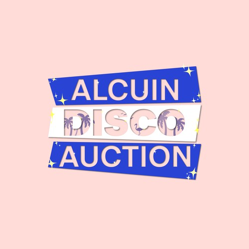 Sparkling logo with the title 'Logo concept for the disco auction'
