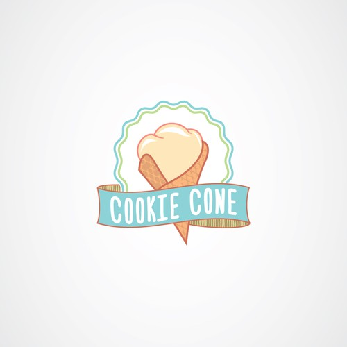 Cone design with the title 'Logo Concept for ice-cream shop'