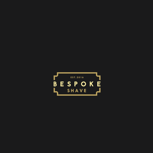 Razor design with the title 'Logo concept for a shaving company'