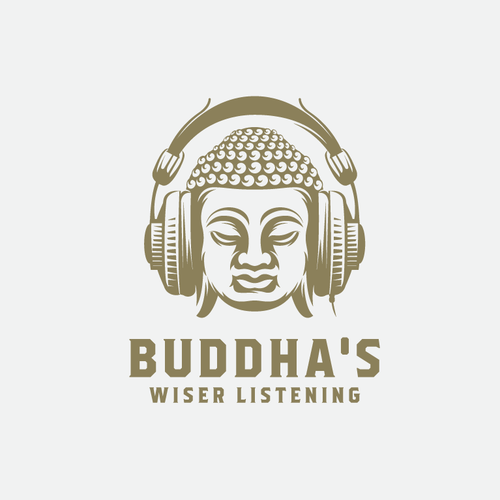 Buddha design with the title 'BUDDHAs wiser listening'