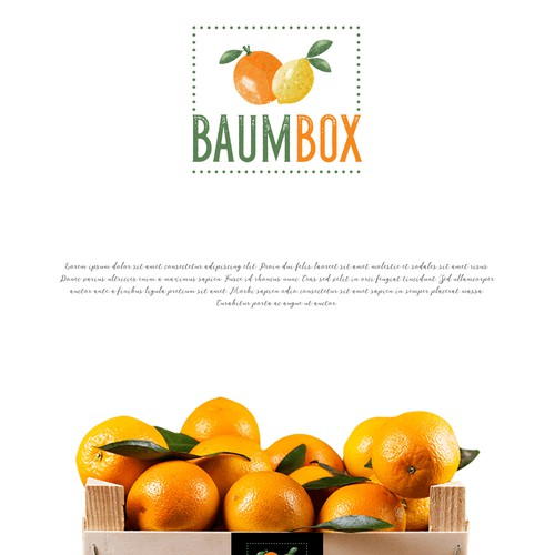 Bio design with the title 'BaumBox'