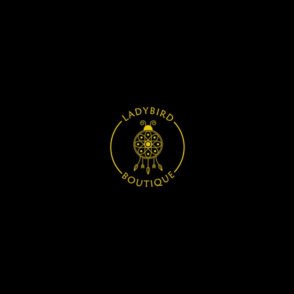 Dreamcatcher logo with the title 'Ladybird Boutique Logo'