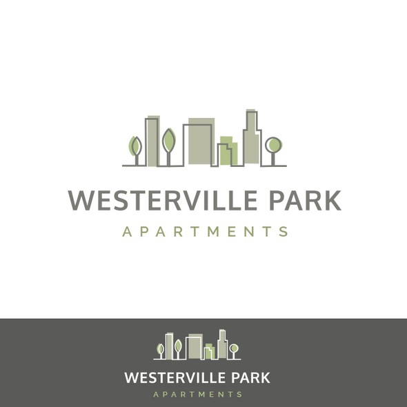 Apartment logo with the title 'Apartment Community Logo'