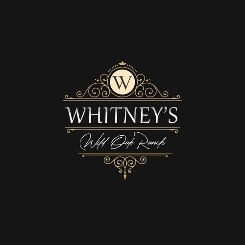 Wedding invitiation logo with the title 'Whitney's Wild Oak Ranch'