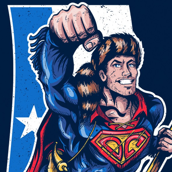 Superman design with the title 'Design Davy Crockett as Superman!'