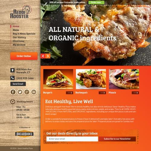 Restaurant website with the title 'Creative restaurant website design'