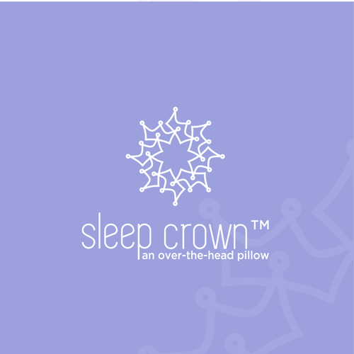 Crown logo with the title 'Logo for a new product - pillow'