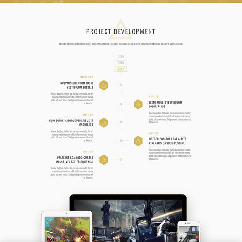 Golden design with the title 'Triforce Landing Page'