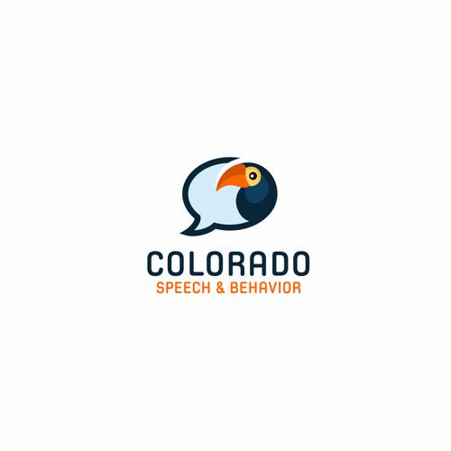 Parrot logo with the title 'Logo design for Colorado Speech & Behavior'