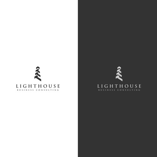 Lighthouse logo with the title 'Contemporary concept for lighthouse consulting'