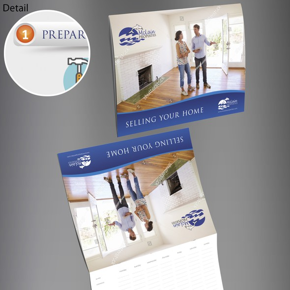 Apartment design with the title 'McLain Properties Brochure Design'