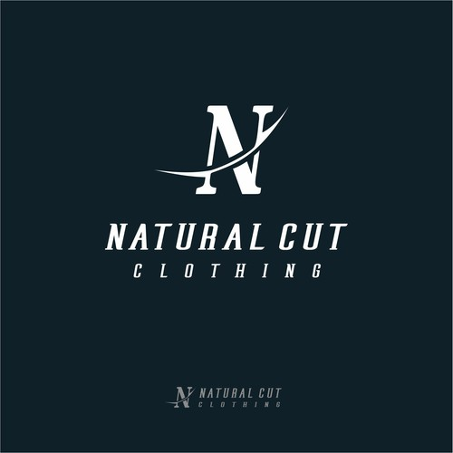 Responsive logo with the title 'Natural Cut Clothing Logo'