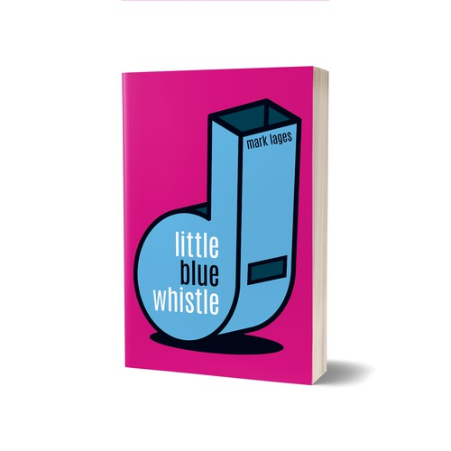 Pink book cover with the title 'Little Blue Whistle Book Cover'