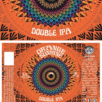 Bold Psychedelic Beer Label