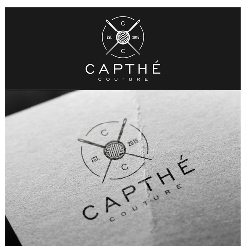 Needle design with the title 'Capthé fashion brand'