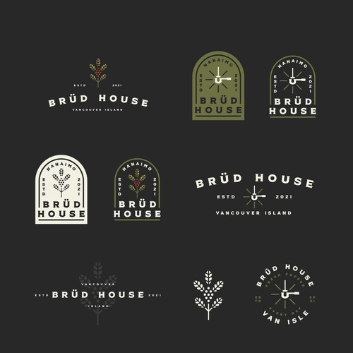 Cafe racer logo with the title 'Brüd House'