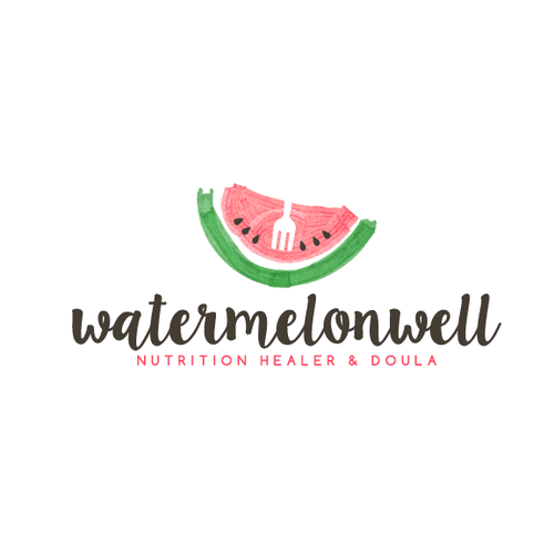 Pink logo with the title 'watermelonwell'