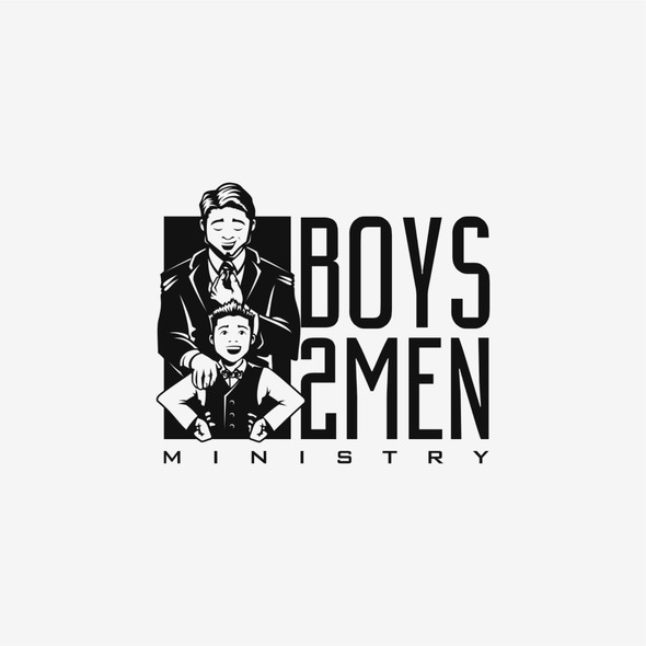 Boy design with the title 'Logo for Church Ministry for Boys'