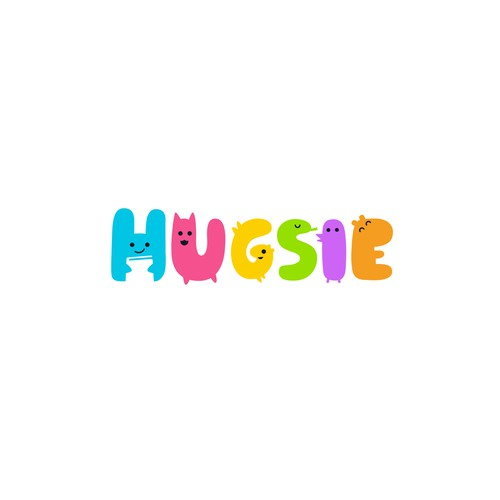 Friendly logo with the title 'Hugsie'