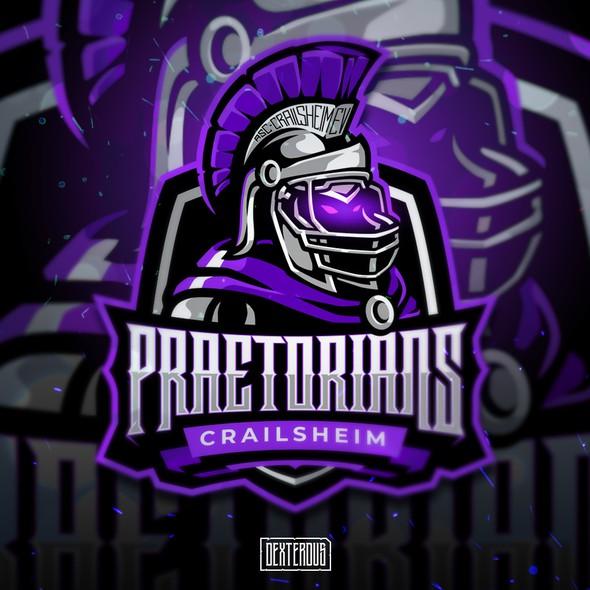 Spartan helmet design with the title 'Crailsheim Praetorians'