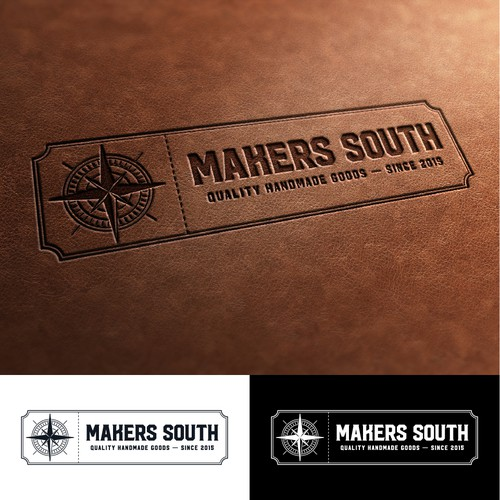 Handmade design with the title 'Makers South Logo'