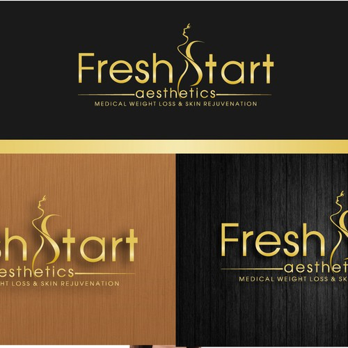 Laser logo with the title 'fresh start aesthetics'