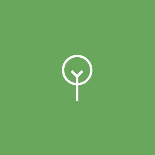 Minimalist logo with the title 'Tree Logo'