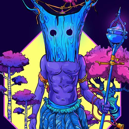 Spiritual illustration with the title 'Bold album art'