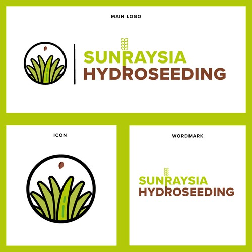 Fertilizer logo with the title 'Logo Design For Hydro seeding Company'