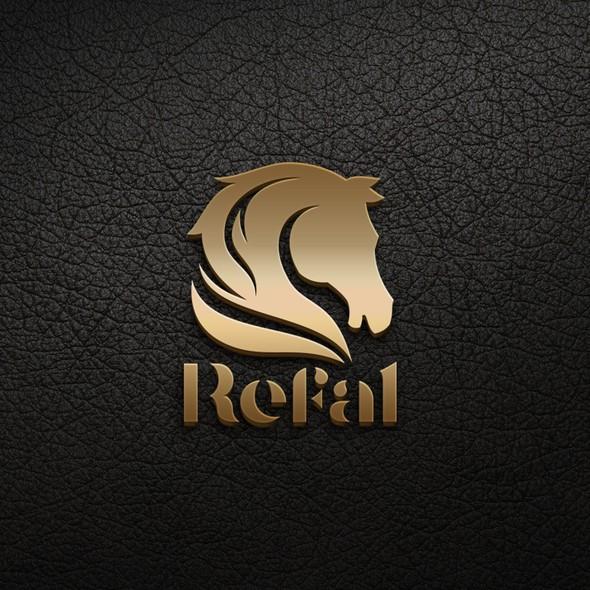 Horse head logo with the title 'Logo for Refal enterprises development '