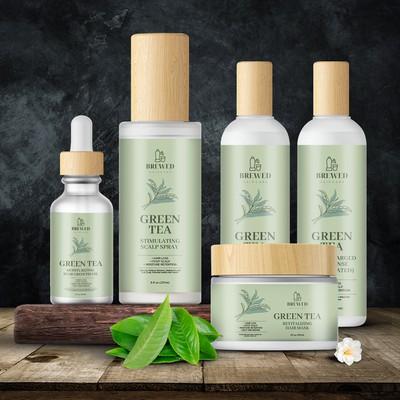 Green Tea Cosmetics Product Label