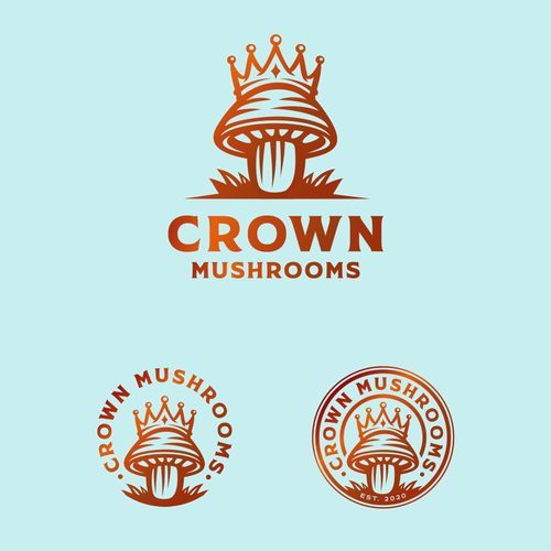 Truffle logo with the title 'Logo concept for Crown Mushrooms'