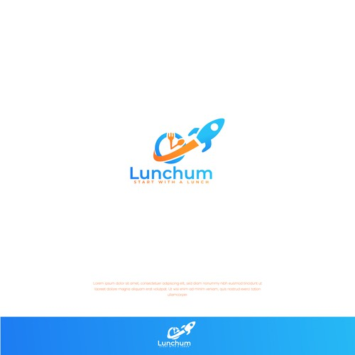 Lunch logo with the title 'LUNCHUM LOGO CONCEPT'