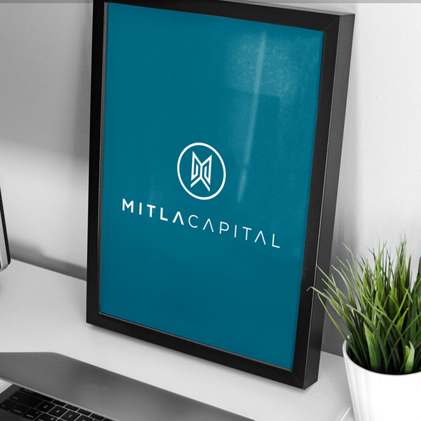 Bold logo with the title 'Logo design for Mitla Capital'