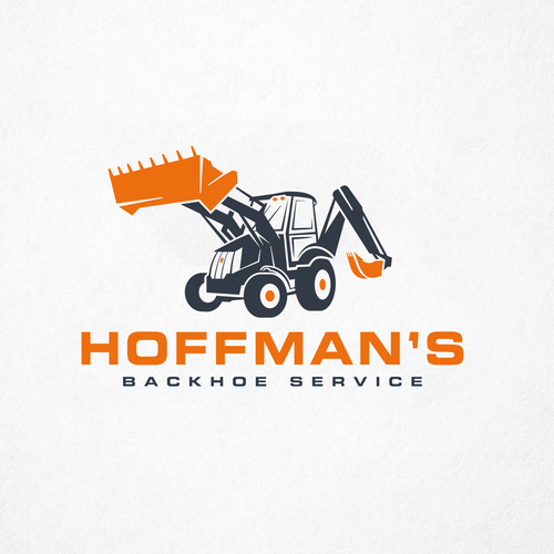 Machinery logo with the title 'Logo design for Excavating company'