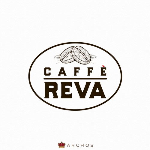 Coffee shop brand with the title 'Caffè Reva'