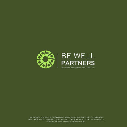 Teamwork design with the title 'Be well partners'