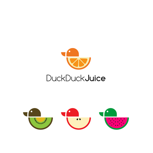 Duck logo with the title 'Duck Duck Juice'
