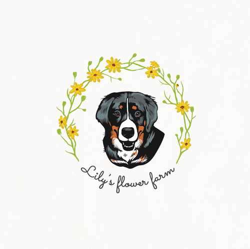 Lily logo with the title 'Design for an urban flower farm'
