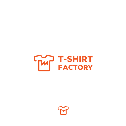 Hub design with the title 'T-shirt Factory logo'