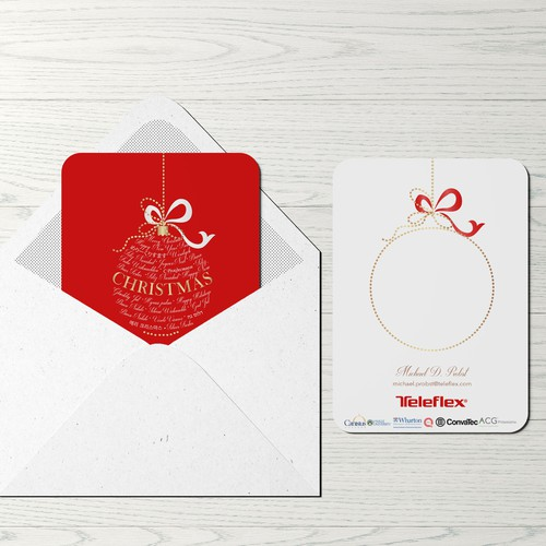 Festive design with the title 'Christmas card design'