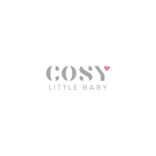 Pink and red logo with the title 'Cosy Little Baby'