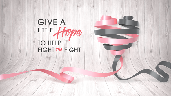 Cancer ribbon design with the title 'Facebook Cover'