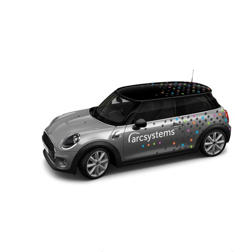Mini design with the title 'ARC Systems Car Wrapping'